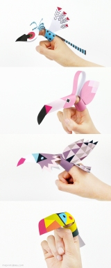 printable finger puppets birds