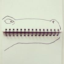 A notebook dinosaur © Cintascotch