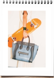 Celine Spring ad Daria Werbowy skateboard